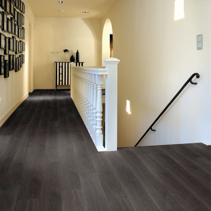 Aqua Step Anthracite Oak Wood V4 Waterproof Laminate Flooring