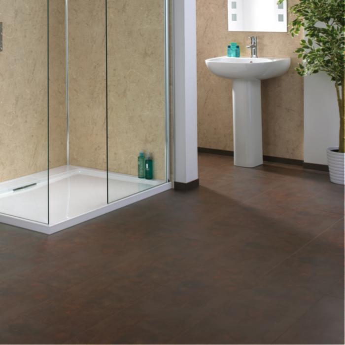 Aqua Step Copper Loft Waterproof Laminate Flooring V4 Tiles Lfdirect