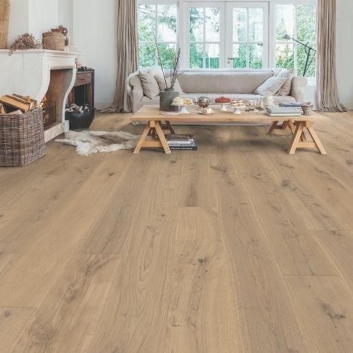 Quick Step Flooring Parquet Massimo Cappuccino Blonde Oak Extra Matt