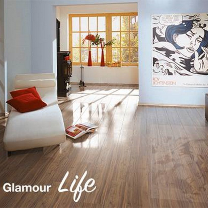 Elesgo Supergloss Glamour Life Canyon Mountain Walnut Laminate Flooring Sample Lfdirect