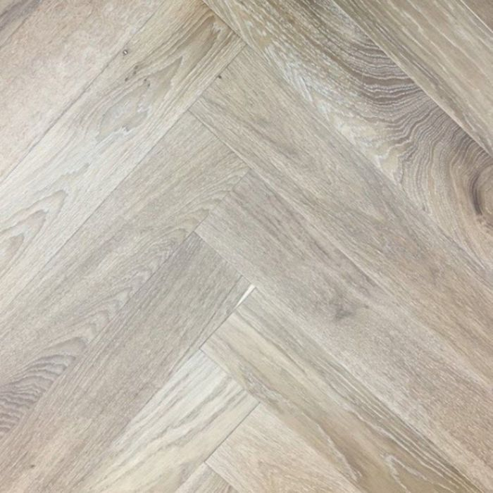Elka Real Wood Engineered Flooring 14mm Herringbone Light Smoked Oak