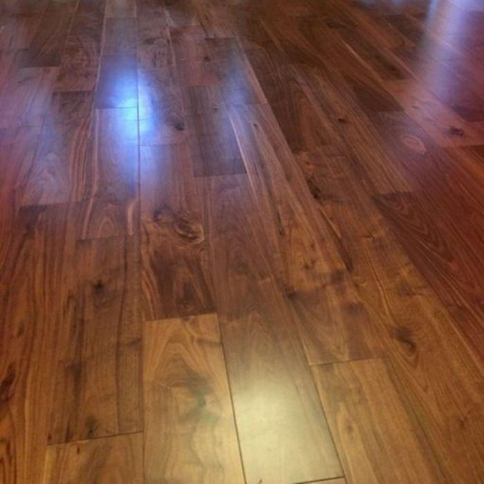 Real Wood Engineered Flooring 14mm Black American Walnut 180mm Lfdirect Laminate