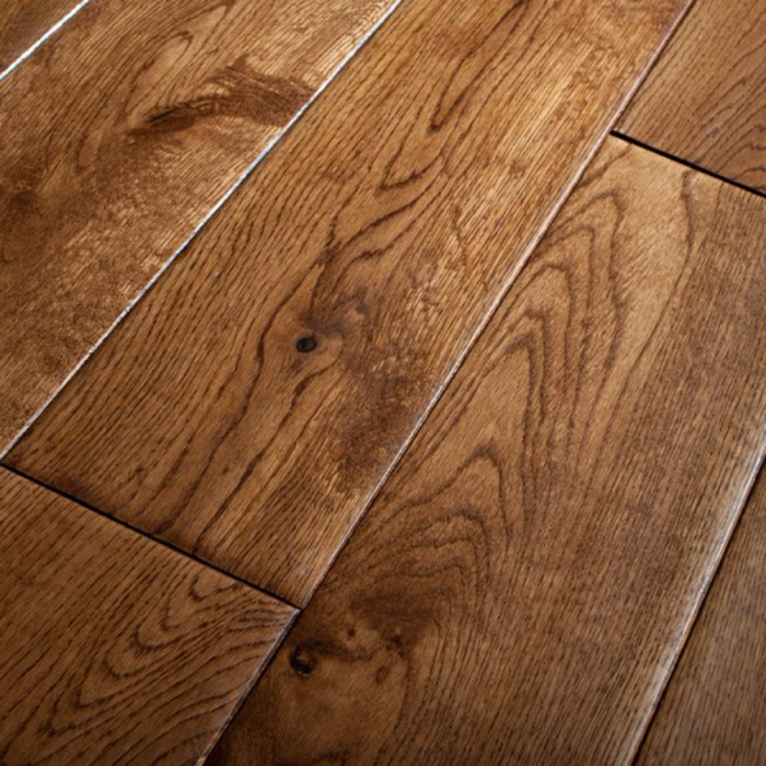 Real Wood Engineered Flooring 14mm Golden Oak Hand Scraped 180mm