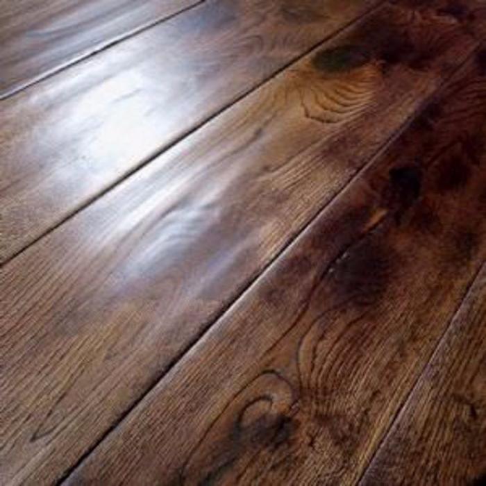 Solid Wood Flooring 18mm Coffee Oak Hand Scraped 125mm Lfdirect