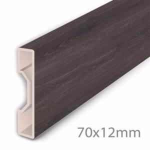 Aqua-Step Skirting Board Anthracite Oak