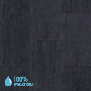 Aqua-Step Mini Tiles Travertine Anthracite Brush Finish R10 V4 Waterproof Laminate Flooring